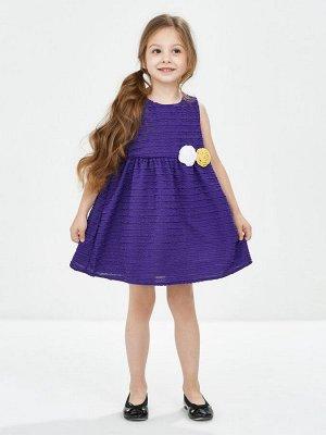 Платье с розами (98-122см) UD 2673(3)сирень