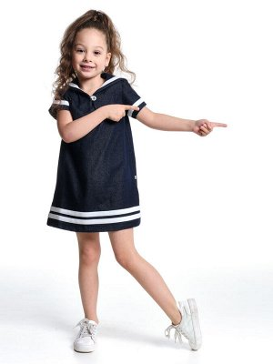 *Платье с пуговкой (92-116см) UD 1215 джинс
