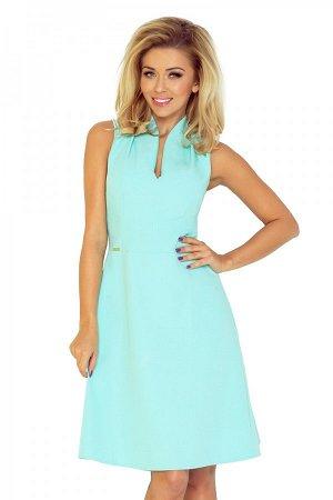 Платье NUMOCO 133-5  Платье с воротником-стойкой и изящным вырезом. На тонкой подкладке. Выполнено из качественного материала. З