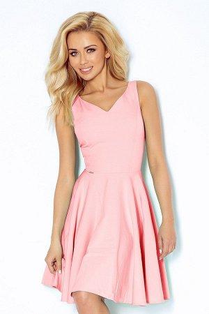 Платье NUMOCO 114-5  Платье-клёш с декольте в форме сердца. Состав: полиэстер 95%, эластан 5%