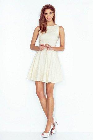 Платье NUMOCO 125-17 ZAKARD ROSE экрю  Платье-клёш из фактурной ткани. Очень удобно и женственно. Рост модели на фото 170 см. Со