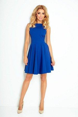 Платье NUMOCO 125-4 василёк  Платье-клёш из текстурного эластичного материала с фактурой в форме кирпичиков. Очень удобно и женс