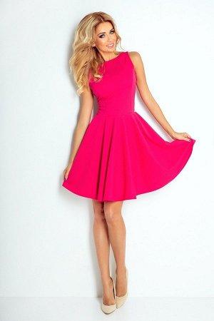 Платье NUMOCO 125-3 малина  Платье-клёш из текстурного эластичного материала с фактурой в форме кирпичиков. Очень удобно и женст
