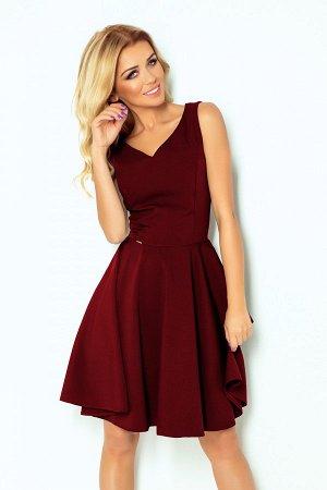 Платье NUMOCO 114-11  Платье-клёш с декольте в форме сердца. Состав: полиэстер 95%, эластан 5%