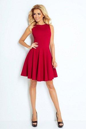 Платье NUMOCO 125-1 бордо  Платье-клёш из текстурного эластичного материала с фактурой в форме кирпичиков. Очень удобно и женств