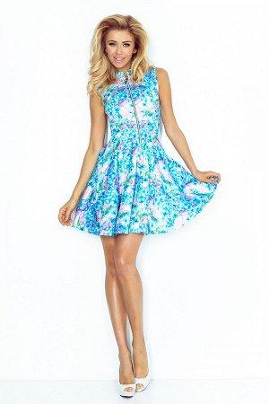 Платье NUMOCO 123-13  Платье-клёш из плотного материала. Длинная молния спереди и 2 практичных кармана в юбке. Очень удобно и же