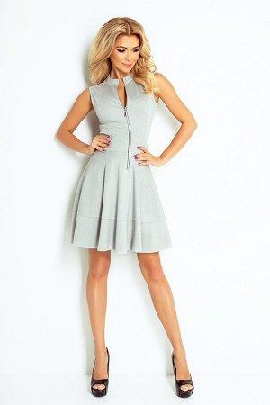 Платье NUMOCO 123-6  Платье-клёш из плотного материала. Длинная молния спереди и 2 практичных кармана в юбке. Очень удобно и жен