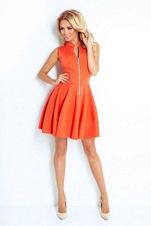 Платье NUMOCO 123-5  Платье-клёш из плотного материала. Длинная молния спереди и 2 практичных кармана в юбке. Очень удобно и жен