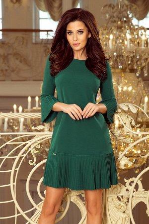 Платье NUMOCO 228-2  Красивое и скромное платье с нежными складками на рукавах и подоле юбке. Рост модели на фото 170 см. Состав