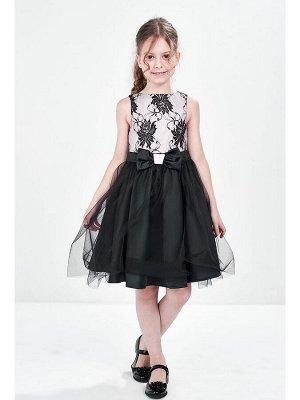 Платье (122-146см) UD 6183(3)касар/черный