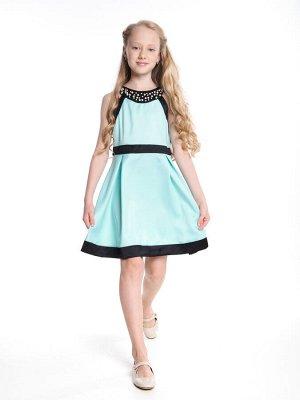 Платье (122-146см) UD 6176(2)бирюза