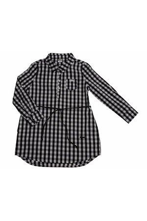 Платье с пояском (152-164см) UD 5001 клетка