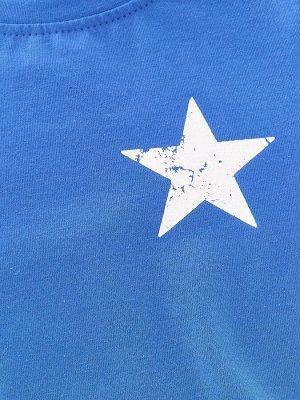 Футболка (лонгслив) (98-122см) UD 0429(5)синий