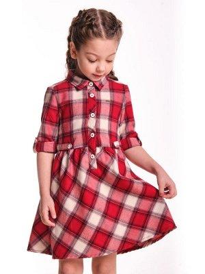 Платье, UD 6868 клетка красн