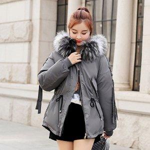 Демисезонная куртка серая размер 54