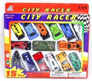 Набор машин 15 в 1 City Racer