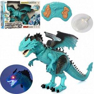 Радиоуправляемый синий дракон (дышит паром)