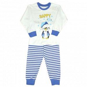 ПЖ-1818/Пижама детская синяя с пингвином
