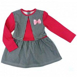 Платье 7104/4 (гусиные лапки, жилетка)