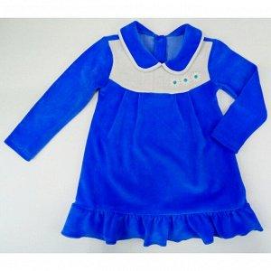 Платье 744/3 (голубое, велюр)