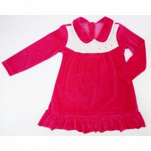 Платье 744/1 (малина) велюр