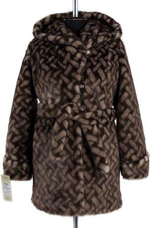 Пальто шуба искусственная женская (пояс)