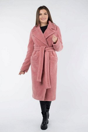 Пальто женское утепленное (пояс) супер модное тедди пальто