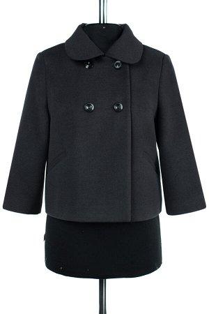 01-07823 Пальто женское демисезонное Пальтовая ткань темно-серый