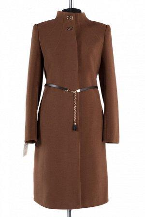01-8034 Пальто женское демисезонное (пояс) Кашемир светло-коричневый