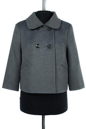01-07796 Пальто женское демисезонное Ворса светло-серый