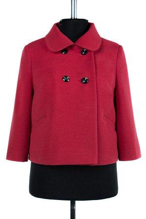 01-07780 Пальто женское демисезонное Пальтовая ткань Малина