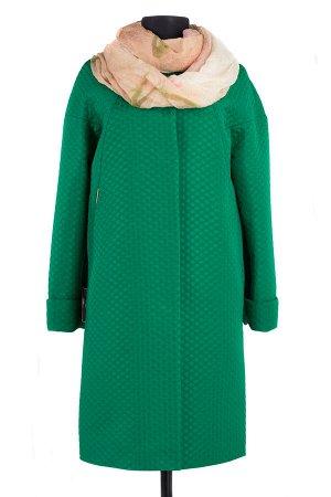 12-0062 Пальто облегченное Жаккард Изумруд