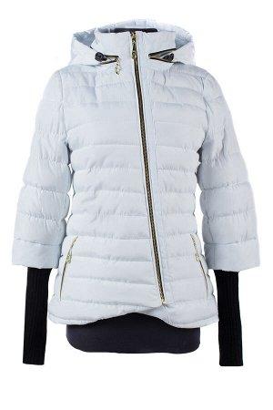 04-1298 Куртка демисезонная (синтепон 150) Плащевка белый