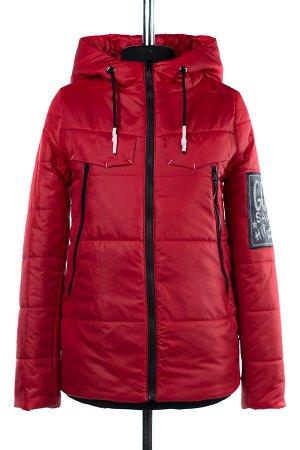 04-1868 Куртка демисезонная (синтепон 100) Плащевка красный
