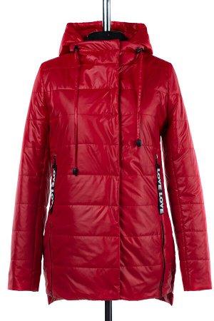 04-1858 Куртка демисезонная (синтепон 100) Плащевка красный
