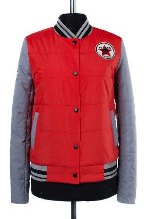04-1915 Куртка демисезонная (синтепон 100) Плащевка красный