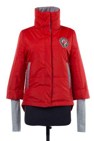 04-1912 Куртка демисезонная (синтепон 100) Плащевка красный
