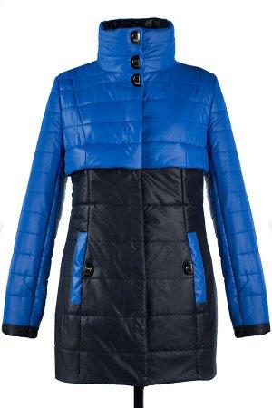 04-1337 Куртка демисезонная University (синтепон 150) Плащевка Черный-василек