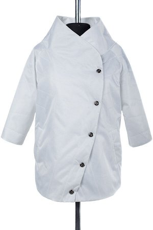 04-1743 Куртка демисезонная (Синтепон 50) Плащевка белый