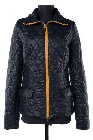 04-1500 Куртка демисезонная University (синтепон 100) Плащевка Черный-мед