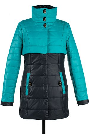 04-1320 Куртка демисезонная University (синтепон 150) Плащевка Черный-изумруд
