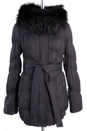 05-0864 Куртка зимняя (пояс) Плащевка черный