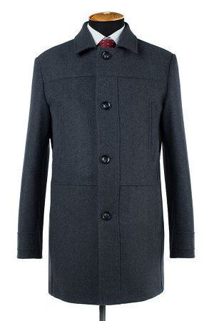 07-0083 Пальто мужское утепленное (рост 182) (синтепон 150) сукно серый