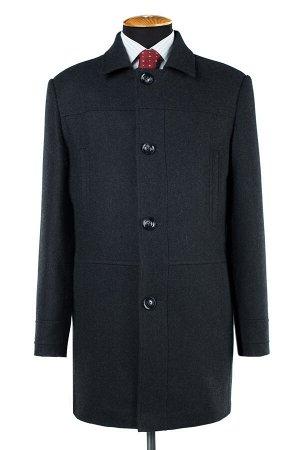 07-0081 Пальто мужское утепленное (рост 182) (синтепон 150) Рубчик темно-серый