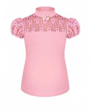 Розовая школьная блузка для девочки Цвет: розовый