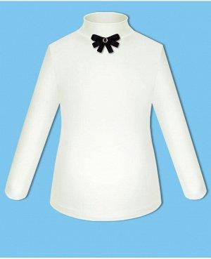 Молочная школьная блузка с бантиком для девочки Цвет: молочный