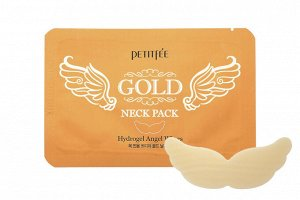 Гидрогелевая маска для области шеи Petitfee Gold Neck Pack Hydrogel Angel Wings