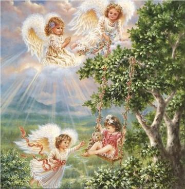 Алмазная мозаика - это удивительное творчество и релакс!  — Ангелы — Мозаики и фреска