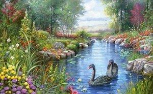 """Озеро в парке"""
