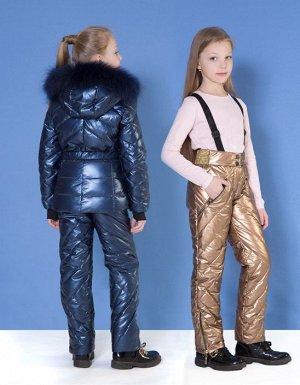 Зимний костюм для девушки синего цвета